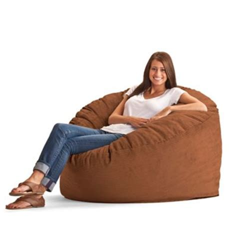 comfort research large wide wale corduroy fuf bean bag chair bed bath