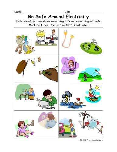 worksheet electric safety primaryelem teaching