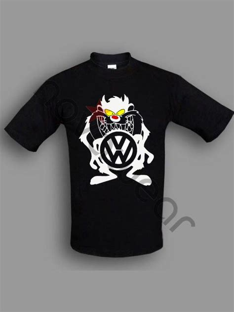 vw taz  shirt black vw accessories volkswagen clothing