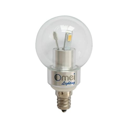 led 3w e14 candelabra base cool white 6000k dimmable 40