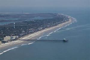 Folly Beach South Carolina Aerial Photograph by Dustin K Ryan