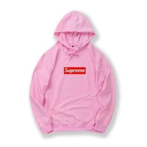 Harga Jaket Merk Supreme jual jaket jumper sweater pria wanita supreme pink di