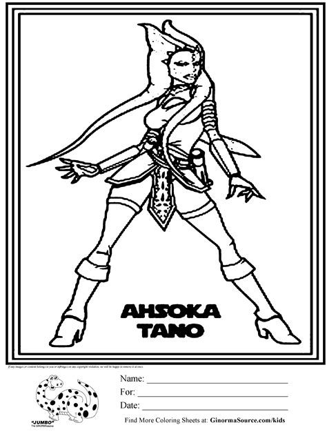 ahsoka coloring pages   print