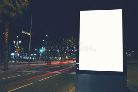 Blank Billboard Template public information board  night city  beautiful dusk 800 x 533 · jpeg