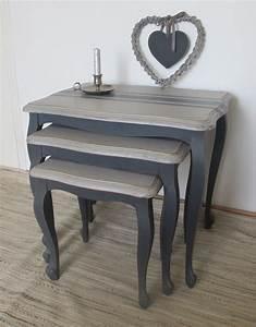 Meuble Gris Et Blanc : comment ceruser un meuble en gris 6 pour repeindre un meuble meuble peint gris et blanc pin ~ Teatrodelosmanantiales.com Idées de Décoration