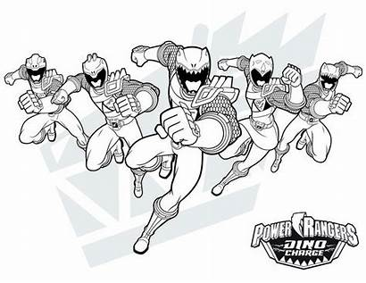 Rangers Coloring Dino Power Ranger Charge Coloriage