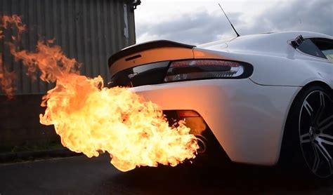 aston martin shoots  foot flames