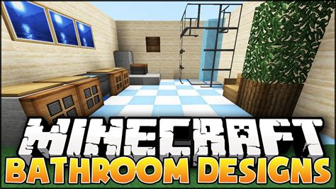 minecraft nice bathroom designs ideas youtube