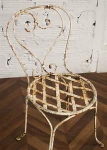 Chaise En Fer Forgé : chaise jardin chaises fer forg ancienne vintage 1900 ~ Dode.kayakingforconservation.com Idées de Décoration