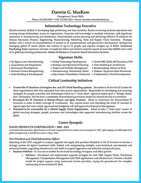 Cto Resume by Outstanding Cto Resume For Professionals
