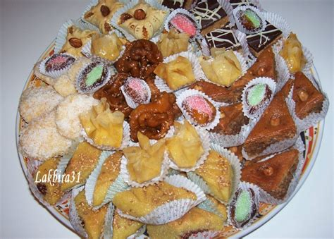 cuisine oriantale assortiment de petits gâteaux pâtisserie orientale