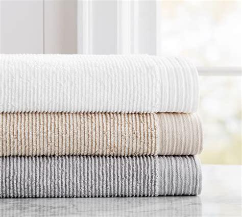 Aerospin? Ribbed Organic Towels   Pottery Barn