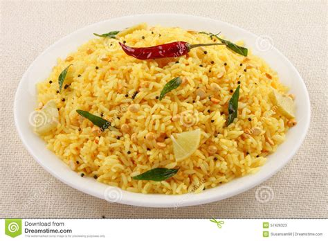 limoner cuisine lemon rice from south indian cuisine stock photo image