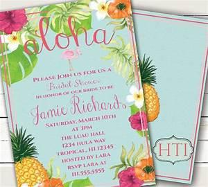 luau invitation aloha luau bridal shower hawaii invitation With free printable tropical wedding invitations