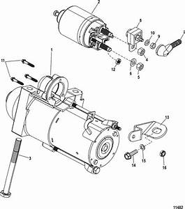 Mercruiser 3 0l Gm 181 I    L4 Starter Motor Parts