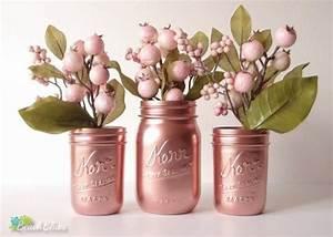 Deco Cuivre Rose : pi ce ma tresse de vase rose cuivre rose or decor par ~ Zukunftsfamilie.com Idées de Décoration