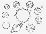 Solar System Coloring Pages Printable Colouring Planets Space sketch template