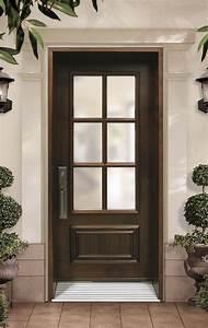 porte simple avec revetement de bois cerisier et unite With porte de garage et porte simple en bois