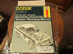Haynes Service Repair Manual Dodge Colt 1971