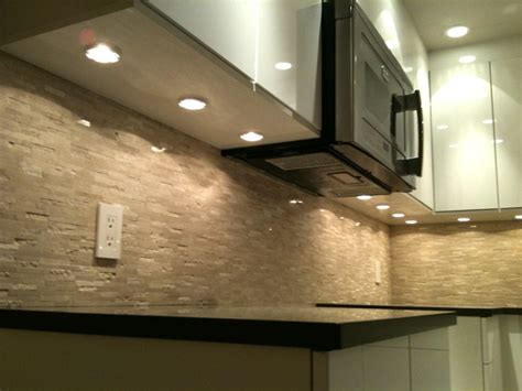 Under Cabinet Strip Lighting Ikea by Puck Lights Microwave Fan Modern Kitchen Vancouver
