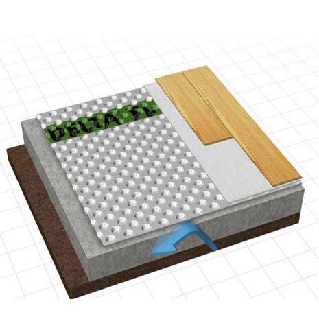 Cosella Dorken DELTA FL Subfloor for basement. Easy to