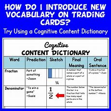 How Do I Introduce New Vocabulary On Trading Cards?  Teaching With Trading Cards