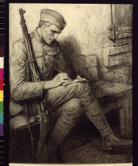 soldier writing letter library  congress