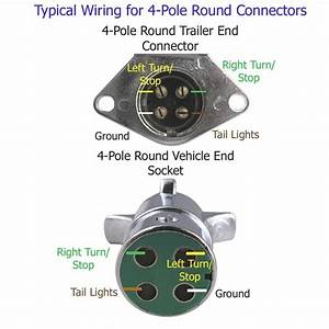 Wiring Diagram For 4 Prong Round Trailer Plug  U2013 Powerking Co