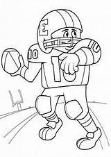 Football Coloring Tulamama Throw sketch template