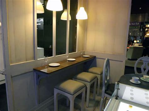 mange debout cuisine plateau mural mange debout 200 40 ep 3 avec 2 equerres bois ajourées provence et fils