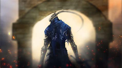 hd wallpaper dark souls blurry warrior