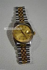 Rolex Uhr Herren Gold : rolex datejust automatik herren uhr stahl gold cal 1570 herrenuhr ~ Frokenaadalensverden.com Haus und Dekorationen