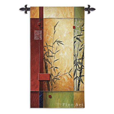 garden i modern tapestry wall hanging abstract design h53 quot x w26 quot