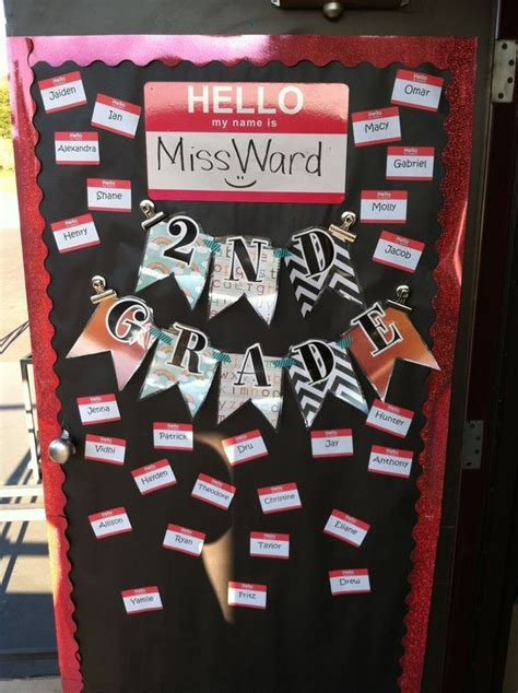 classroom door decoration  stickable  tags