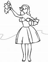 Hula Coloring Pages Dancer Dance Hawaiian Jazz Getdrawings Unparalleled Getcolorings Printable Recital Colorings sketch template