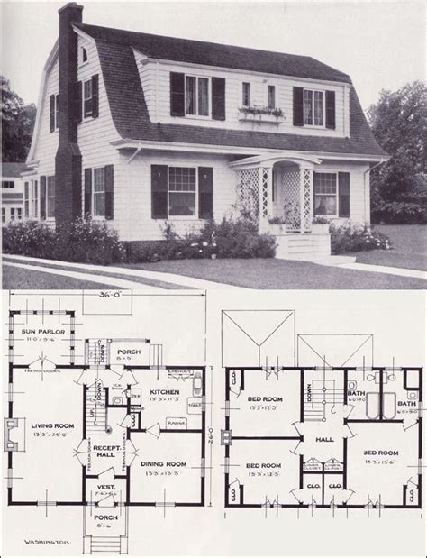 Colonial Revival House Plans by 1920s Vintage Home Plans Colonial Revival The