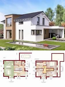 Haus Schlüsselfertig Bauen : einfamilienhaus modern mit satteldach architektur design carport haus bauen grundriss ~ Orissabook.com Haus und Dekorationen