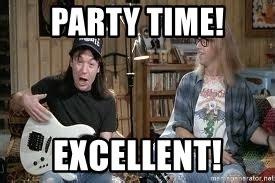 Wayne S World Memes - party time excellent wayne s world basement meme