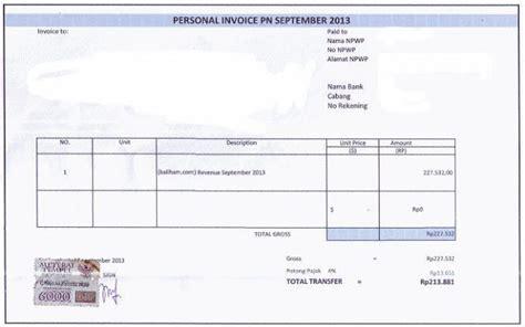 Contoh Invoice Tagihan by Contoh Surat Tagihan Invoice Yang Baik Dan Benar Contoh