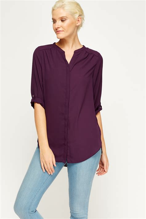 lavender blouses and tops purple basic blouse just 5