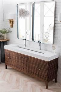 James, Martin, Linear, Double, 72, 6-inch, Modern, Bathroom, Vanity