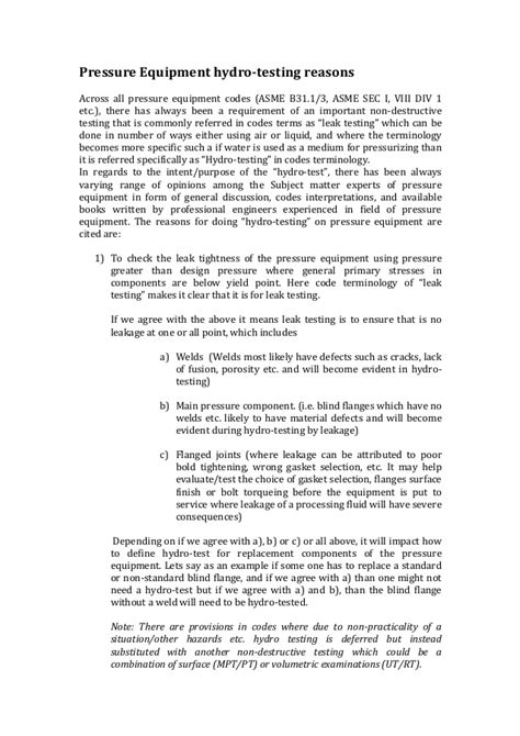 Asme b31 3 hydrostatic testing pdf