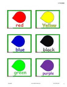 for esl colours colors flashcards