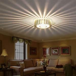 Home, Led, 3w, Hall, Light, Walkway, Porch, Decor, Lamp, Sun, Flower, Creative, Led, Ceiling, Lights
