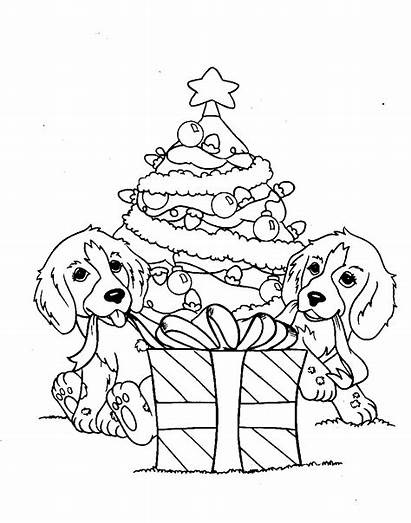 Coloring Dog Pages Puppy Dogs Christmas Adults