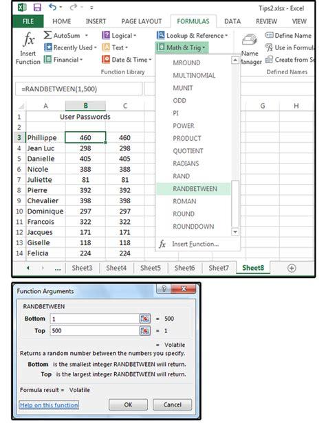 excel tips 6 slick shortcuts handy functions and random number generators pcworld
