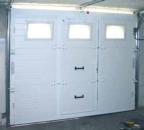 porte de garage basculante avec porte de service la