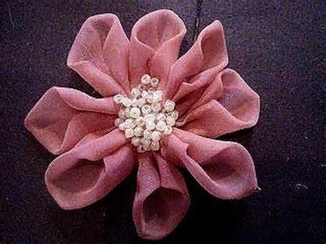 beaded center organza fabric flower    diy prom
