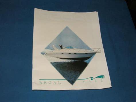 Regal Boats Brochure by Find Regal 1993 Burt Boat Brochure Vintage Boats