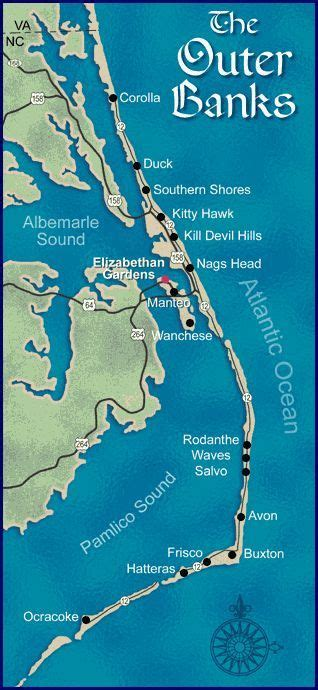 map   outer banks       state